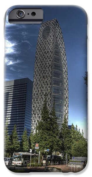 Shinjuku iPhone Cases - Mode Gakuen Cocoon Tower iPhone Case by David Bearden
