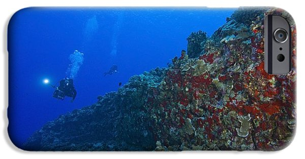 Free-diver iPhone Cases - Molokini Maui Hawaii Usa Scuba Diver iPhone Case by Stuart Westmorland