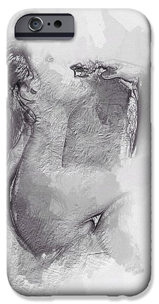 Sensual Mixed Media iPhone Cases - Moments of Lust iPhone Case by Stefan Kuhn