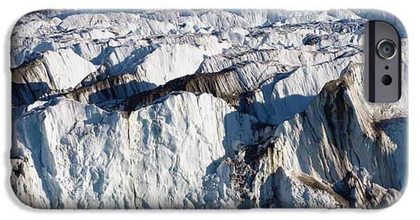 Norway iPhone Cases - Monaco Glacier Liefdefjorden Norway iPhone Case by Konrad Wothe