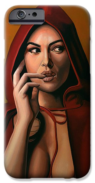 Tears iPhone Cases - Monica Bellucci iPhone Case by Paul  Meijering