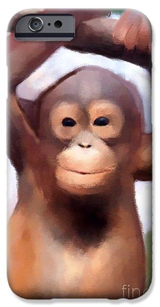 Monkey Business iPhone Case by Karen Larter