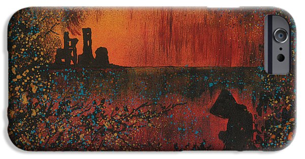 Airbrush iPhone Cases - Monks Retreat iPhone Case by Emma Childs