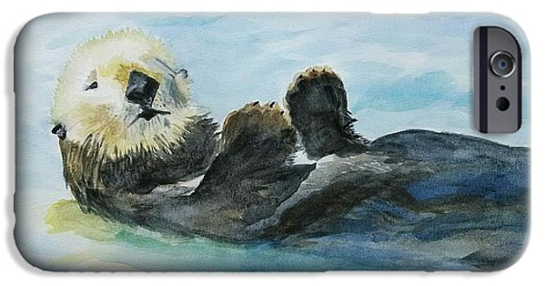 Recently Sold -  - Fury iPhone Cases - Monterey Otter iPhone Case by M Carlen