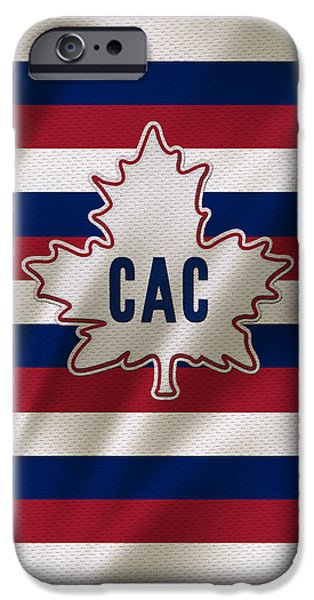 Montreal Canadiens iPhone Cases - Montreal Canadiens Uniform iPhone Case by Joe Hamilton