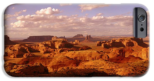 Red Rock iPhone Cases - Monument Valley, Arizona, Usa iPhone Case by Panoramic Images