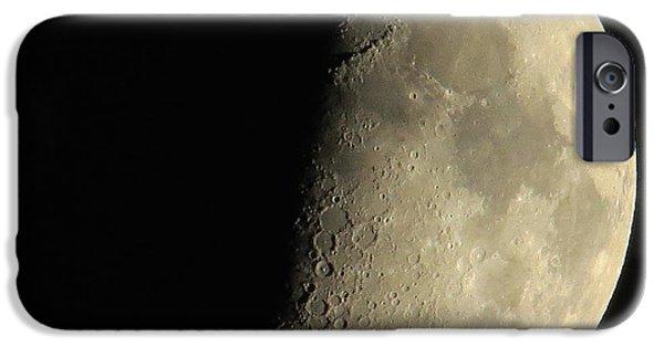 Moonscape iPhone Cases - Moonscape iPhone Case by Lindy Pollard