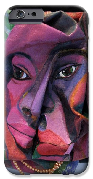 People Sculptures iPhone Cases - More Than Skin Deep #2  iPhone Case by Joyce Owens