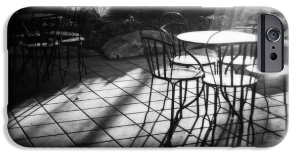 Patio Table And Chairs iPhone Cases - Morning Glory iPhone Case by Mountain Dreams