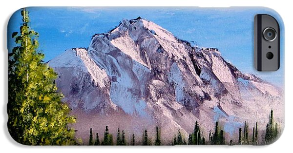 Fog Mist iPhone Cases - Morning On The Mountain iPhone Case by Tim Townsend