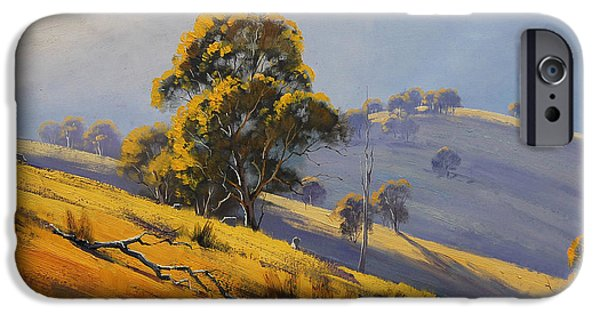 Rural iPhone Cases - Morning Sunlight  iPhone Case by Graham Gercken