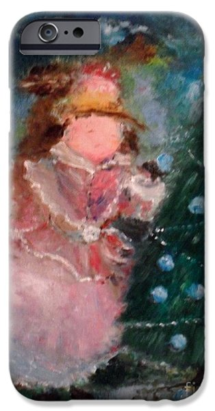 Mother Christmas iPhone Case by Laurie D Lundquist