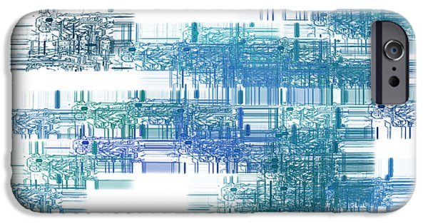 Component iPhone Cases - Motherboard - Printed Circuit iPhone Case by Michal Boubin