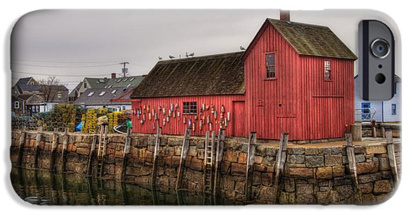 Fishing Shack iPhone Cases - Motif No 1 -  Red Fish Shack iPhone Case by Joann Vitali