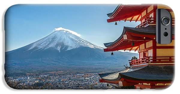 Recently Sold -  - Buddhism iPhone Cases - Mount Fuji - Japan iPhone Case by Luciano Mortula