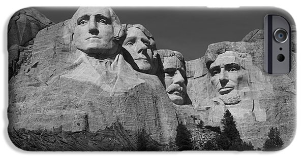 Statue Portrait iPhone Cases - Mount Rushmore iPhone Case by Frank Romeo