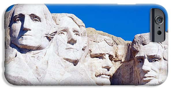 Mount Rushmore iPhone Cases - Mount Rushmore, South Dakota, Usa iPhone Case by Panoramic Images