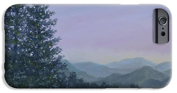 Smokey Mountains Paintings iPhone Cases - Mountain Vista 1 by K. McDermott iPhone Case by Kathleen McDermott