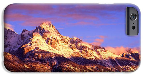 Mountain iPhone Cases - Mountains Covered With Snow, Teton iPhone Case by Panoramic Images