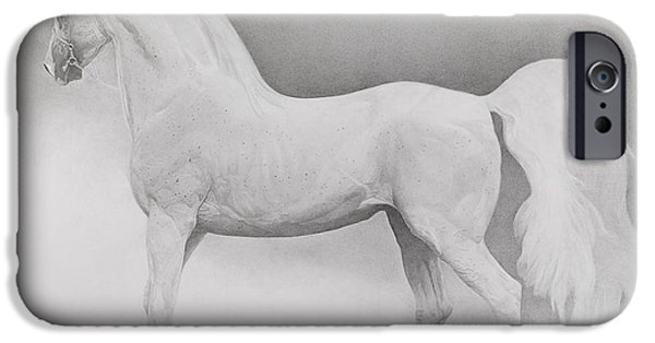 Mammals Drawings iPhone Cases - Moving Image iPhone Case by Emma Kennaway