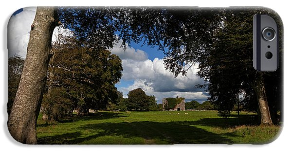 Antiquated iPhone Cases - Moyne Castle Near Headford, Probably iPhone Case by Panoramic Images