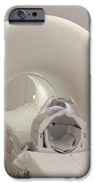 Diagnostics iPhone Cases - Mri Scanner iPhone Case by Arno Massee
