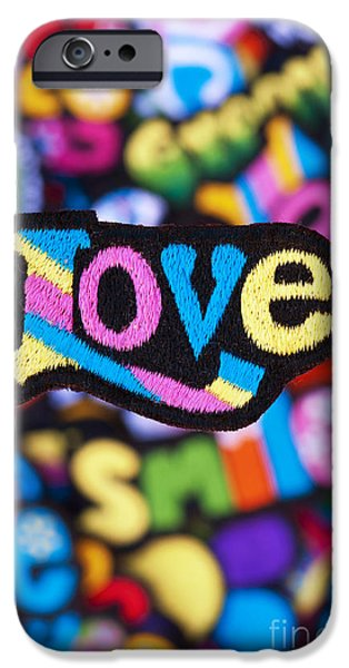 Psychedelic Photographs iPhone Cases - Multicoloured Love  iPhone Case by Tim Gainey