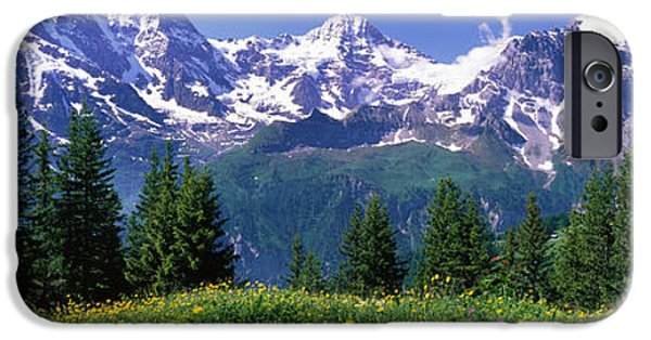 Snowy iPhone Cases - Murren Switzerland iPhone Case by Panoramic Images