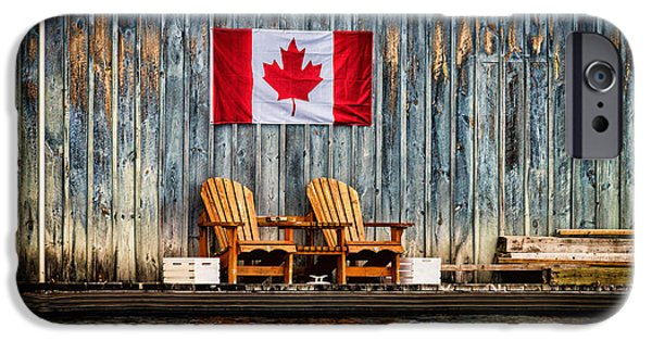 Flag iPhone Cases - Muskoka Chairs iPhone Case by Les Palenik