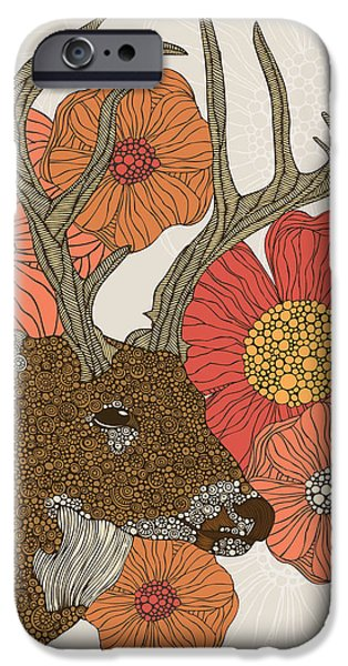 Floral Digital Art Digital Art Photographs iPhone Cases - My Dear deer iPhone Case by Valentina Ramos