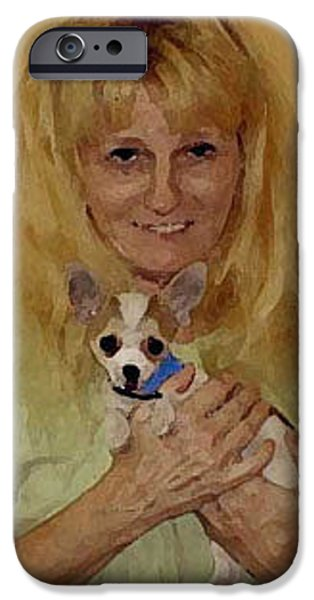 Puppy Digital iPhone Cases - My Heart Belongs to Chachi iPhone Case by Leah Delano