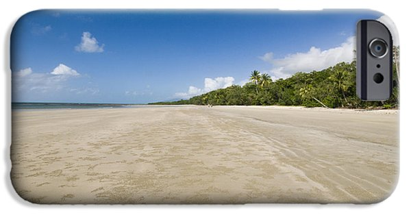 Beach Landscape iPhone Cases - Myall Beach iPhone Case by William H. Mullins