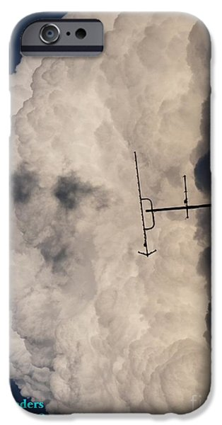 Abstract Digital Paintings iPhone Cases - See description block Pareidolia  MYSTERIOUS FACE IN THE CLOUDS V a iPhone Case by Gert J Rheeders