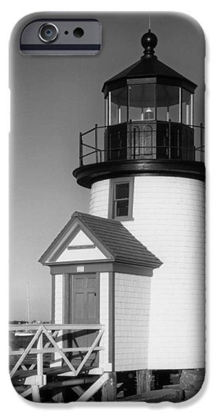 Nantucket iPhone Cases - Nantucket Harbor Light iPhone Case by Mountain Dreams