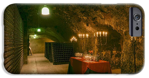 Table Wine iPhone Cases - Napa Valley Wine Cave iPhone Case by Mountain Dreams
