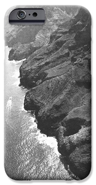 Frank Ocean Drawings iPhone Cases - Napali Coast Of Kauai iPhone Case by Frank Wilson