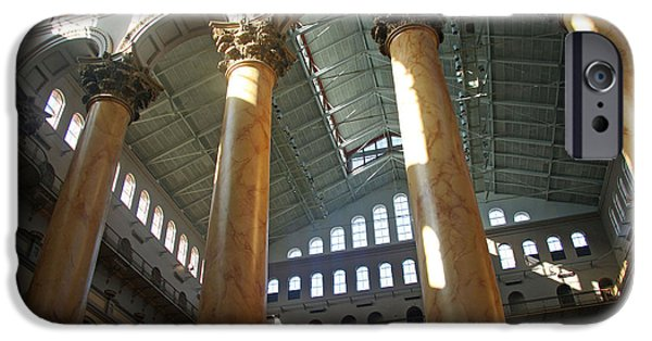 Corianthian Columns iPhone Cases - National Building Museum iPhone Case by Cora Wandel