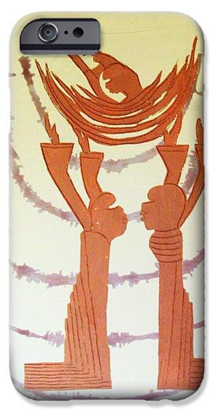 Nativity Ceramics iPhone Cases - Nativity of Jesus iPhone Case by Gloria Ssali