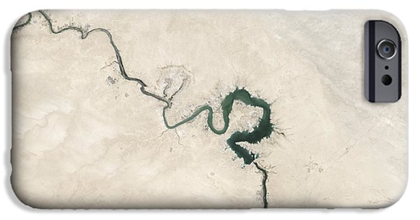 Iraq iPhone Cases - Natural Color Image Of Qadisiyah iPhone Case by Stocktrek Images
