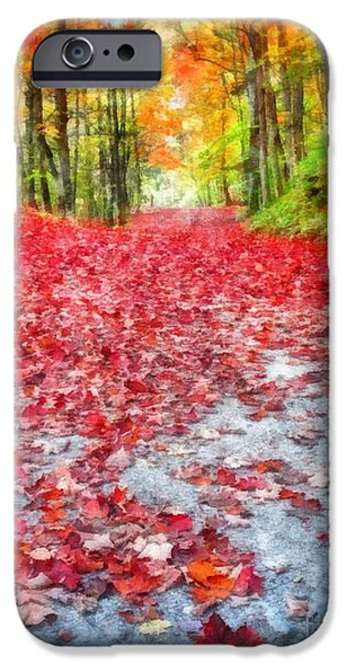 Fall iPhone Cases - Natures Red Carpet iPhone Case by Edward Fielding