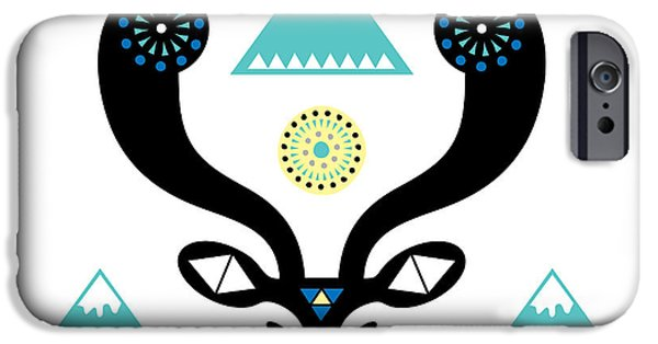 Geometric Animal iPhone Cases - Navajo Deer iPhone Case by Susan Claire