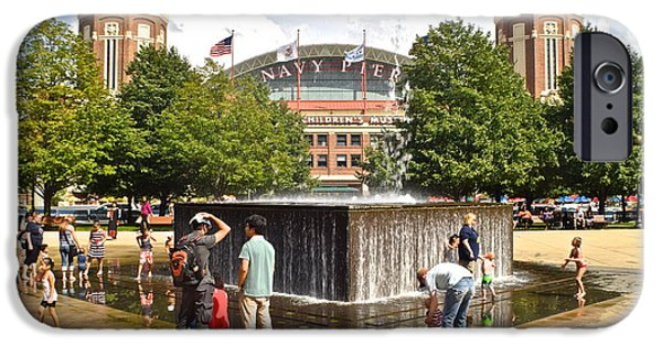 Soldier Field iPhone Cases - Navy Pier iPhone Case by Frozen in Time Fine Art Photography