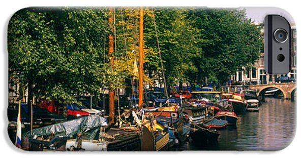 Sailboats iPhone Cases - Netherlands, Amsterdam iPhone Case by Panoramic Images