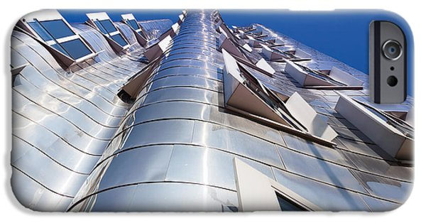 Stainless Steel iPhone Cases - Neuer Zollhof Building Designed iPhone Case by Panoramic Images