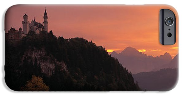 Historic Architecture iPhone Cases - Neuschwanstein Palace Bavaria Germany iPhone Case by Panoramic Images
