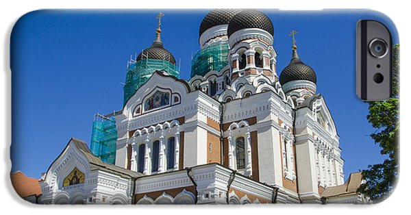 Estonia Photographs iPhone Cases - Nevsky Cathedral - Tallin Estonia iPhone Case by Jon Berghoff