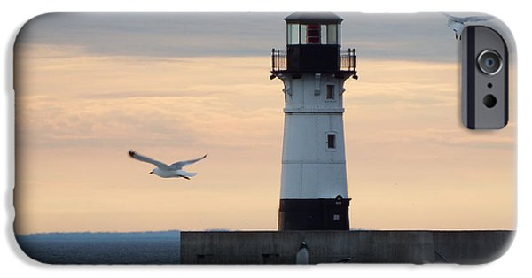 Lighthouse iPhone Cases - New Beginnings iPhone Case by Alison Gimpel