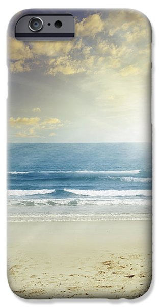 Beach Landscape iPhone Cases - New day iPhone Case by Les Cunliffe