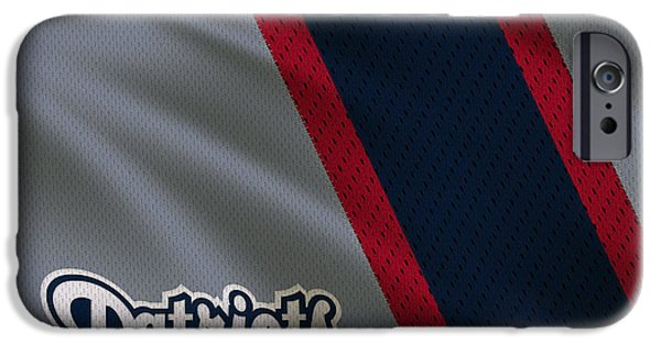 Patriots iPhone Cases - New England Patriots Uniform iPhone Case by Joe Hamilton