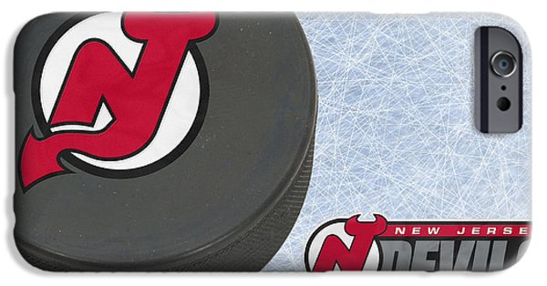 Devil iPhone Cases - New Jersey Devils iPhone Case by Joe Hamilton